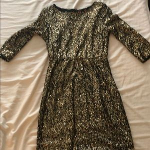 Gold sequenced dress from 548 dresses